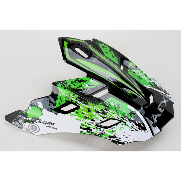 AFX Green Stunt Visor for FX-17 Helmet - 0132-0568
