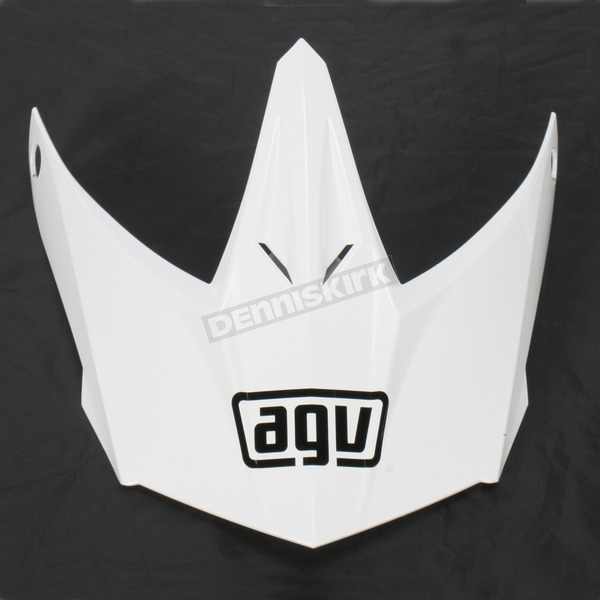 AGV White Visor w/Screws for AX-8 Helmets - KIT75002001