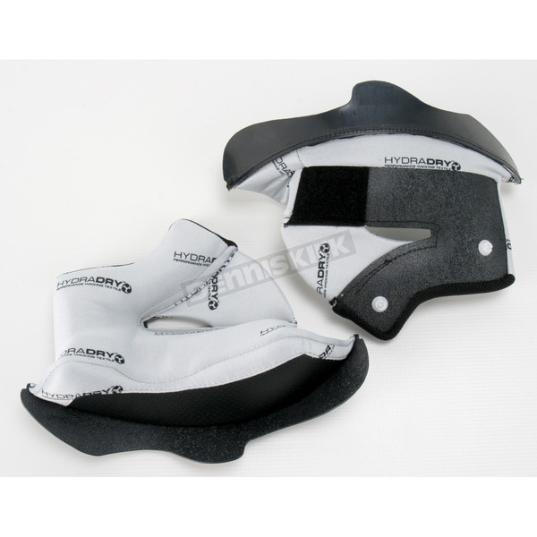 Icon White Alliance Helmet Cheek Pads - 15mm - 0134-1265