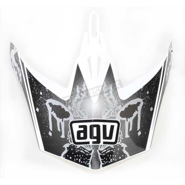 AGV White/Silver MT-X Evolution Visor w/Screws - KU0902012