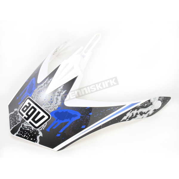 AGV White/Blue MT-X Evolution Visor w/Screws - KU0902014