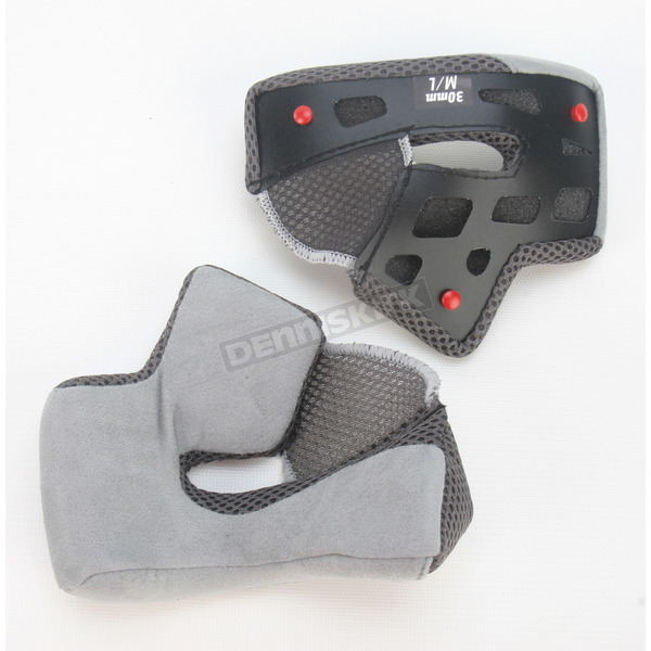 Bell Helmets Grey Cheek Pad Set for RS-1 Helmet Sizes  M - L  - 2026936