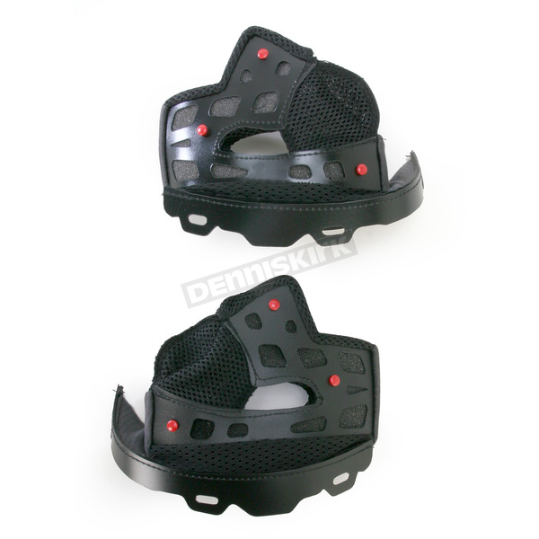 Bell Helmets Black Firm 40mm Cheek Pad Set for Medium and Large Star Helmets - 8003952