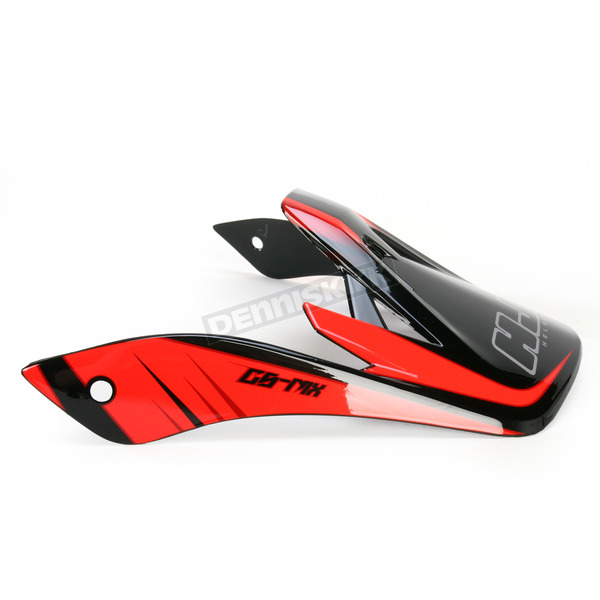 HJC Red/Black MC-1 CS-MX Shattered Helmet Visor - 0970-6019-01