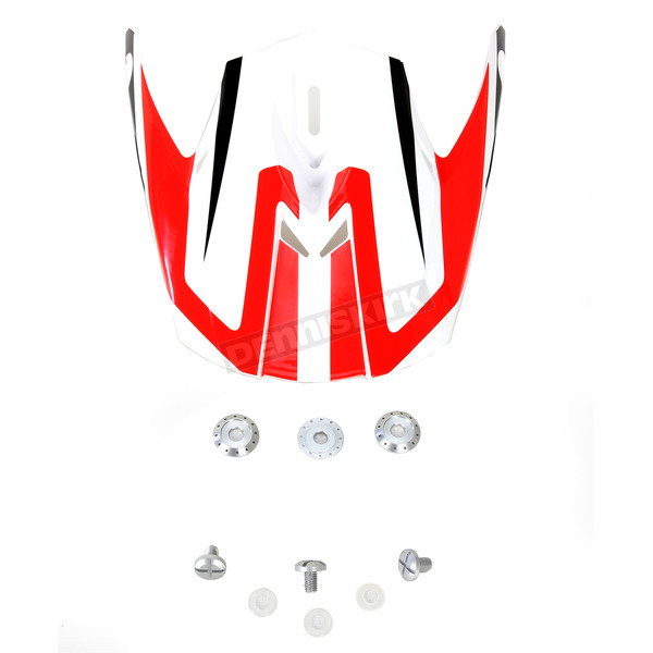 AFX Red/White FX-21 Alpha Visor - 0132-0856
