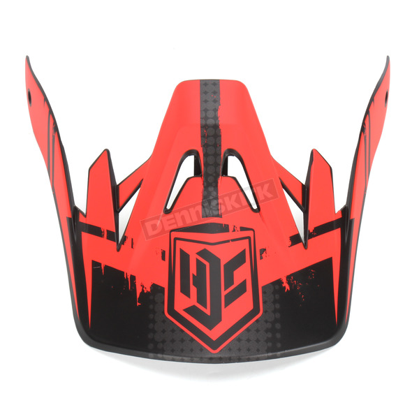 HJC Red/Black MC-1F Visor for CS-MX Helmets - 0970-6020-01