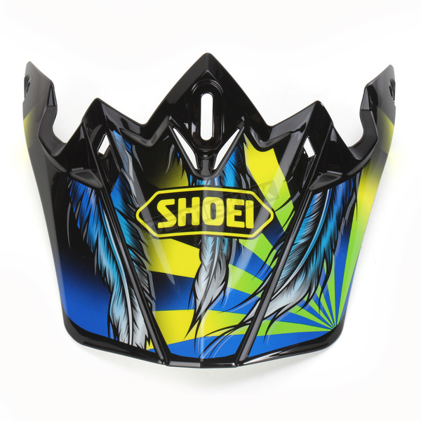 Shoei Helmets Black/Blue/Yellow VFX-W Grant 2 TC-3 Helmet Visor - 0245-6088-03