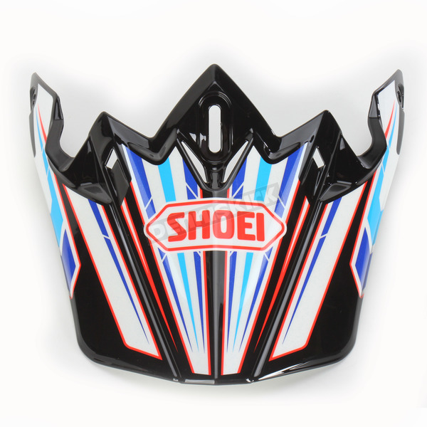 Shoei Helmets Black/Blue/White VFX-W Block Pass TC-2 Helmet Visor - 0245-6087-02