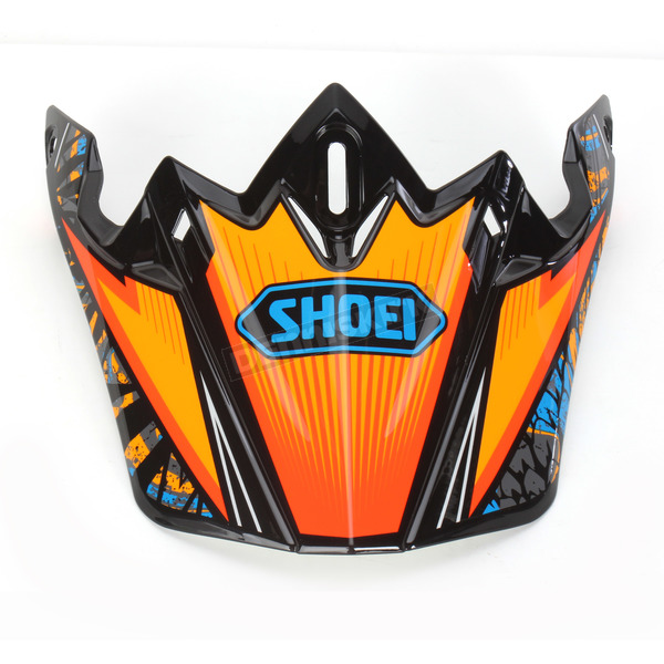 Shoei Helmets Orange/Blue/Black VFX-W Maelstrom TC-8 Helmet Visor - 0245-6085-08