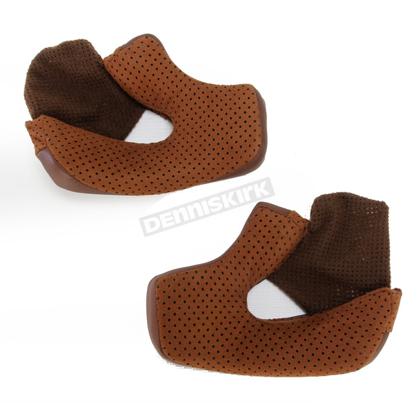 Bell Helmets Brown Cheek Pad Set for Bullitt Helmets - 25mm - 8013394