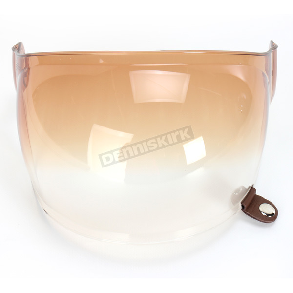 Bell Helmets Gradient Amber Bubble Shield with Brown Tab for Bullitt Helmets - 8013392