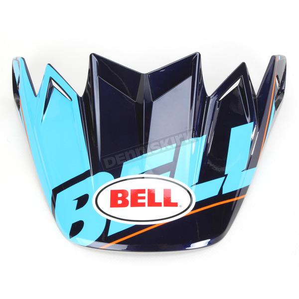 Bell Helmets Blue/Black/Red Visor for Moto-9 Carbon Flex Blocked Helmet - 8031060