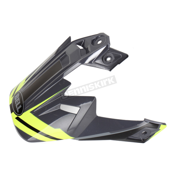 Bell Helmets Black/Hi-Vis Yellow Visor for MX-9 Adventure Barricade Helmets - 8031095
