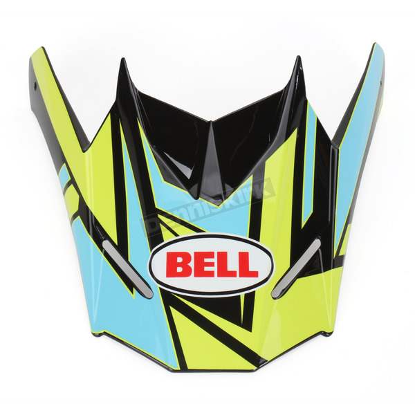 Bell Helmets Blue/Black/Hi-Vis Yellow Visor for SX-1 Stack Helmet - 8031114