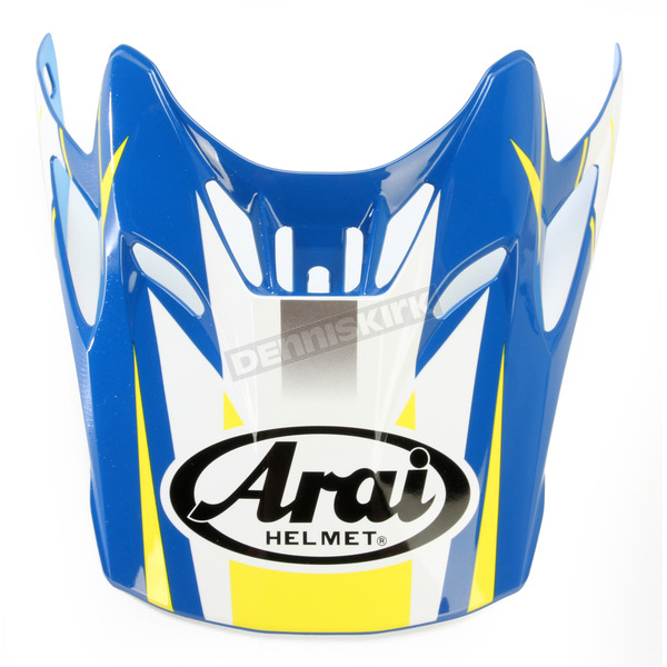 Arai Helmets Blue/Yellow/White Visor for VX-Pro 4 Tip Helmet - 811073