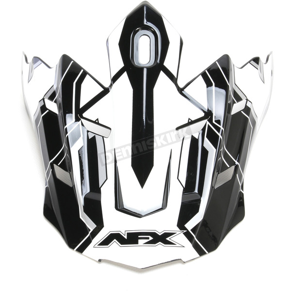 AFX Black FX-17 Works Visor  - 0132-0954