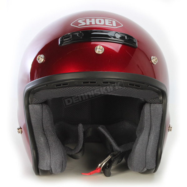 Shoei Helmets RJ Platinum-R Metallic Wine Red Helmet - 02-637