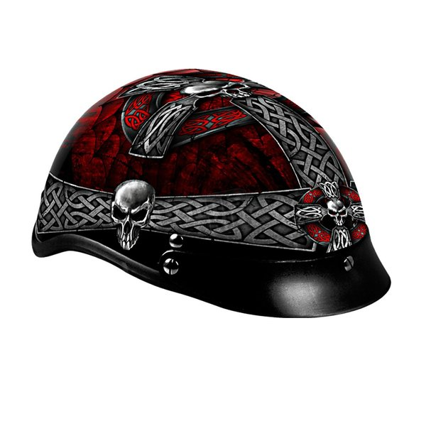Hot Leathers Celtic Cross Helmet - HLD1008S