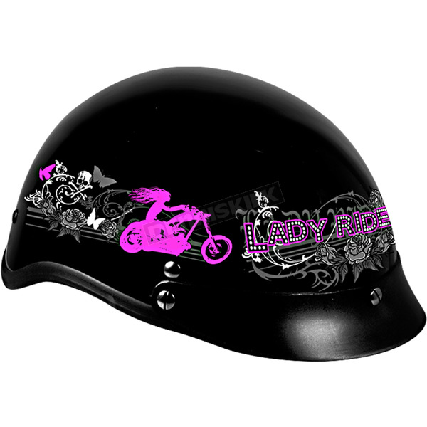 Hot Leathers Womens Lady Rider Helmet - HLD1009S