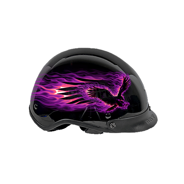 Hot Leathers Womens Flaming Eagle Helmet - HLD1007M