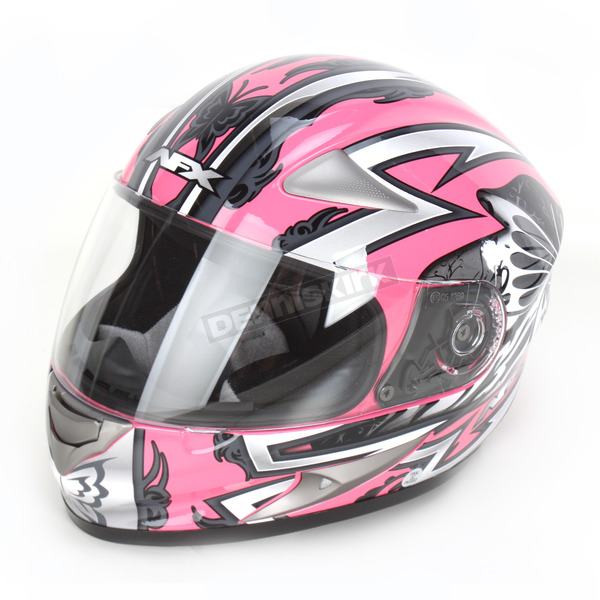 AFX Silver/Pink Passion FX90 Pass Helmet - 0101-5844