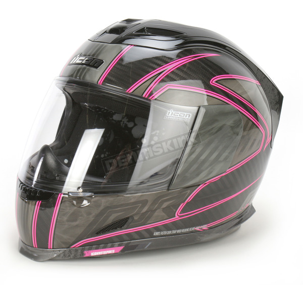 Icon Pink Carbon RR Airframe Helmet - 0101-5984