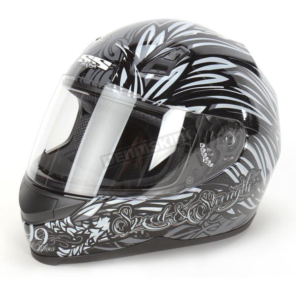 Speed and Strength Black/Silver To the Nines SS700 Helmet - 87-5993