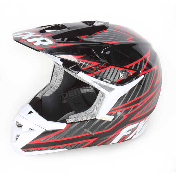 FXR Racing Black/Charcoal/Red X-1 Helmet - 14422