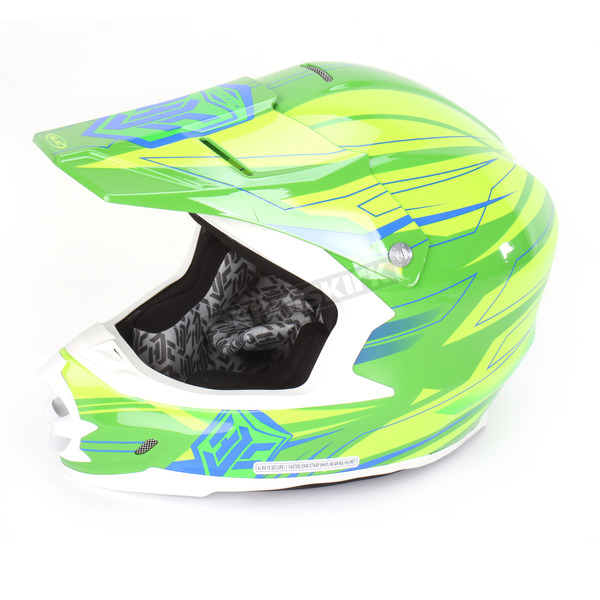 HJC Hi-Vis Green/Blue MC-4H FG-X Talon Helmet - 336-942