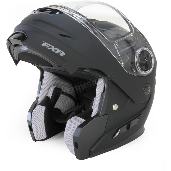 FXR Racing Matte Black Fuel Modular Helmet - 15413