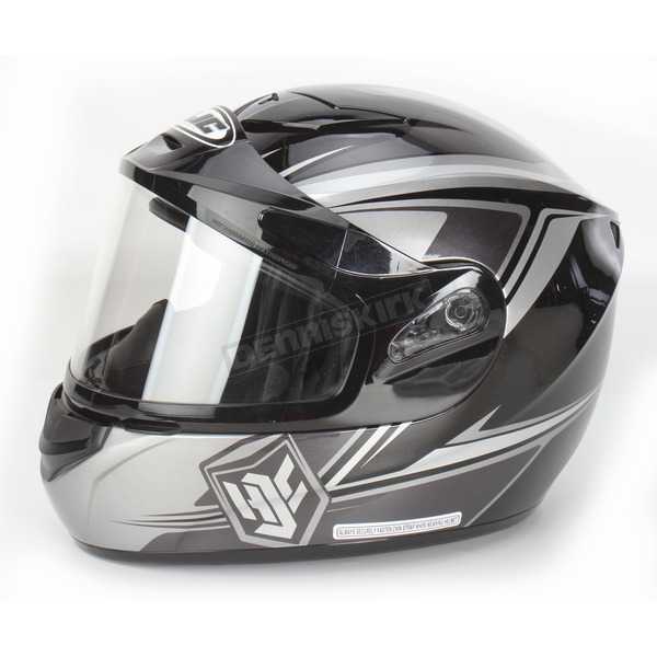 HJC Dark Silver/Black/Silver CS-R2SN MC-5 Seca Helmet with Framed Dual Lens Shield - 55-18752