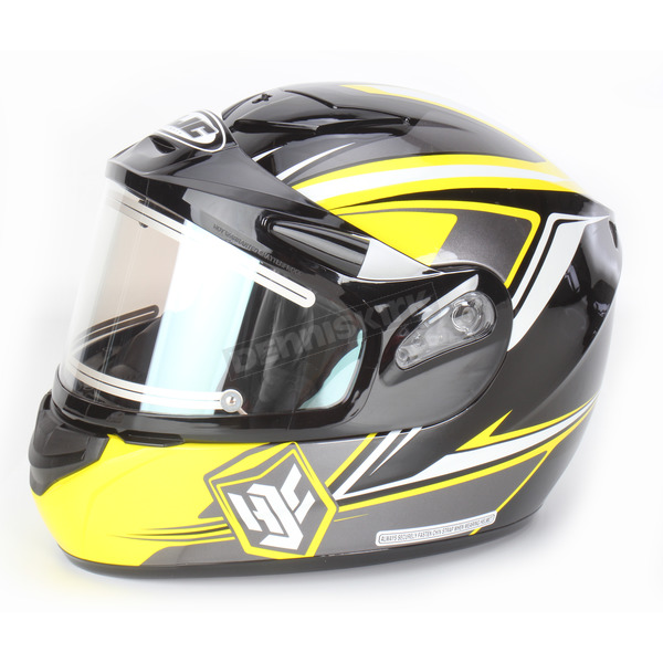 HJC Yellow/Black CS-R2SN MC-3 Seca Helmet with Framed Electric Shield - 55-28734