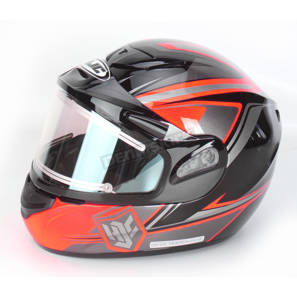 HJC Orange/Black/Silver CS-R2SN MC-6 Seca Helmet with Framed Electric Shield - 55-28762