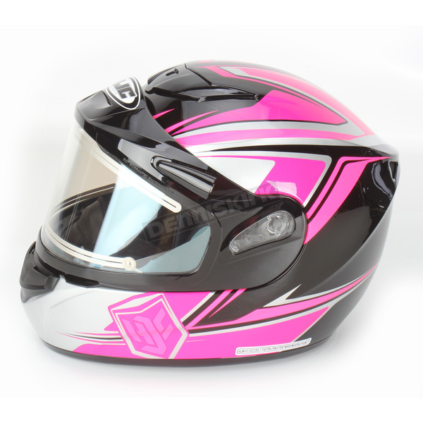 HJC Pink/Black CS-R2SN MC-8 Seca Helmet with Framed Electric Shield - 55-28788