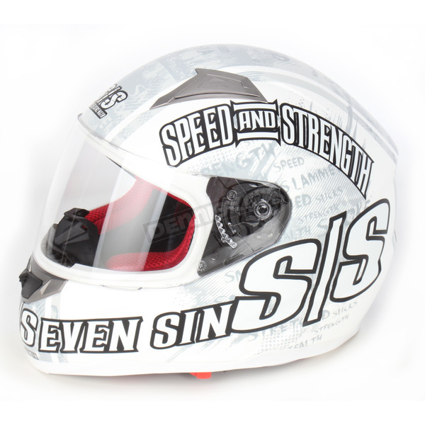 Speed and Strength Matte White SS1500 Seven Sins Helmet - 87-5669