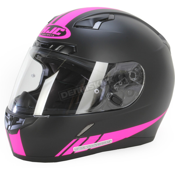 HJC Black/Hot Pink CL-17 MC-8F Streamline Helmet - 838-883