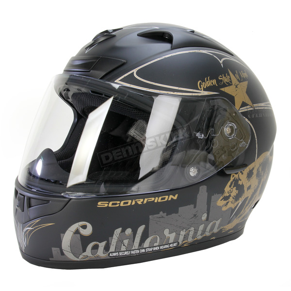 Scorpion Matte Black EXO-R710 Golden State Helmet - 71-3105