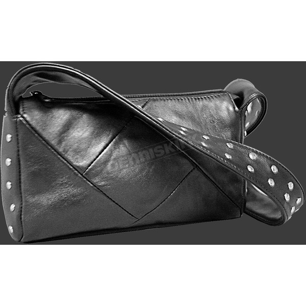 Hot Leathers Studded Strap Leather Purse - BG101