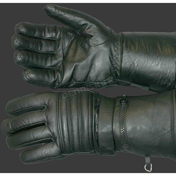 Hot Leathers Lined Leather Gauntlet Gloves - GVM1001L