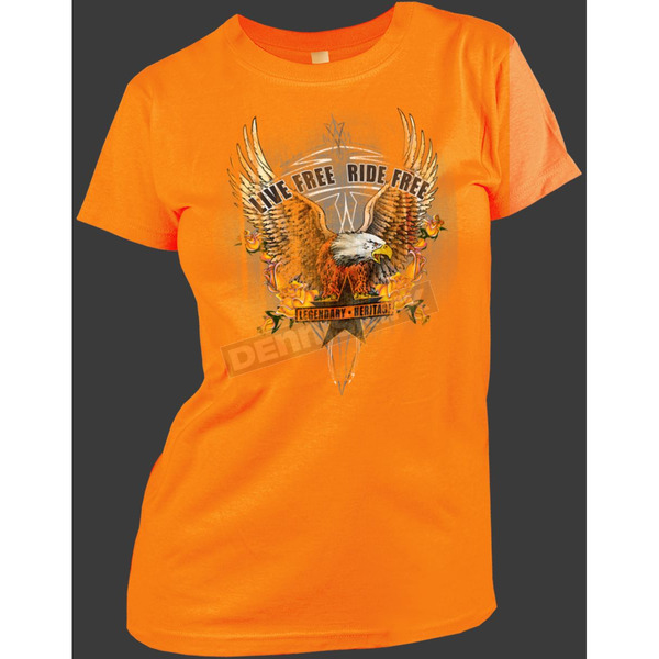 Hot Leathers Womens Up Wing Eagle T-Shirt - GSL371