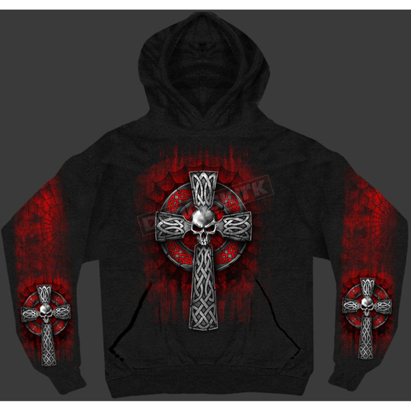 Hot Leathers Celtic Cross Hoody - GMS4022XXXL