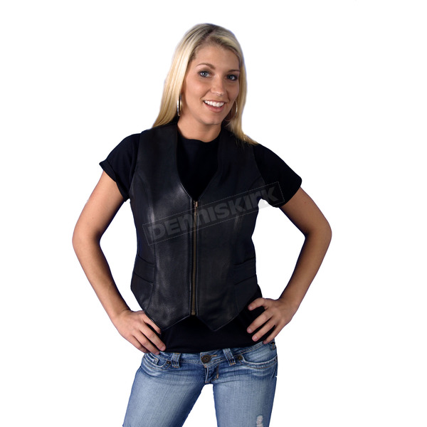 Hot Leathers Womens Zip-Up Naked Leather Vest - VL082000