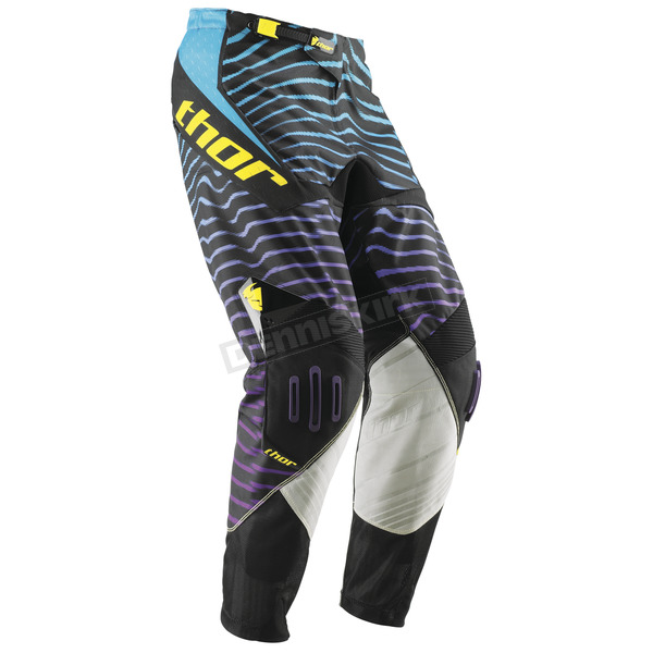 Thor Black/Cyan Zebratec Core Pants - 2901-2995