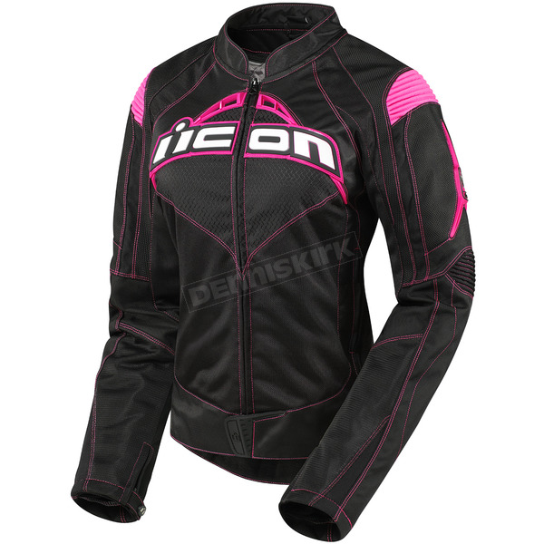 Icon Womens Black/Pink Contra Jacket - 2822-0369