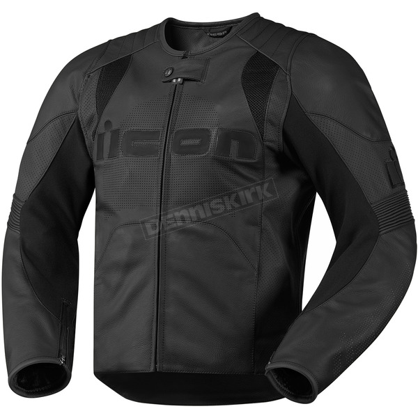 Icon Stealth Overlord Leather Jacket - 2810-1888