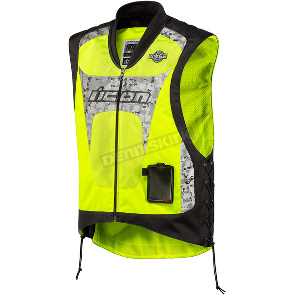 Icon Mil-Spec Yellow Interceptor Reflective Vest - 2830-0183