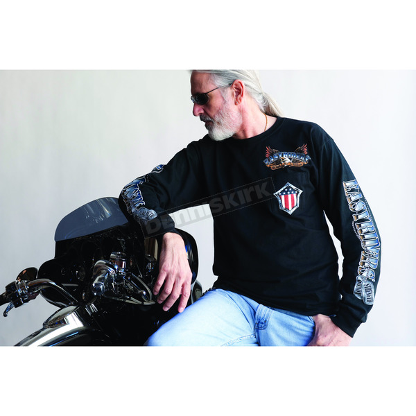 Easyriders Roadware Strength & Honor Long Sleeve Tee w/Pocket - 5124L