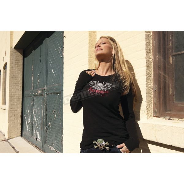 Easyriders Roadware Women's Wicked Spine Long Sleeve Tee - 3170XL
