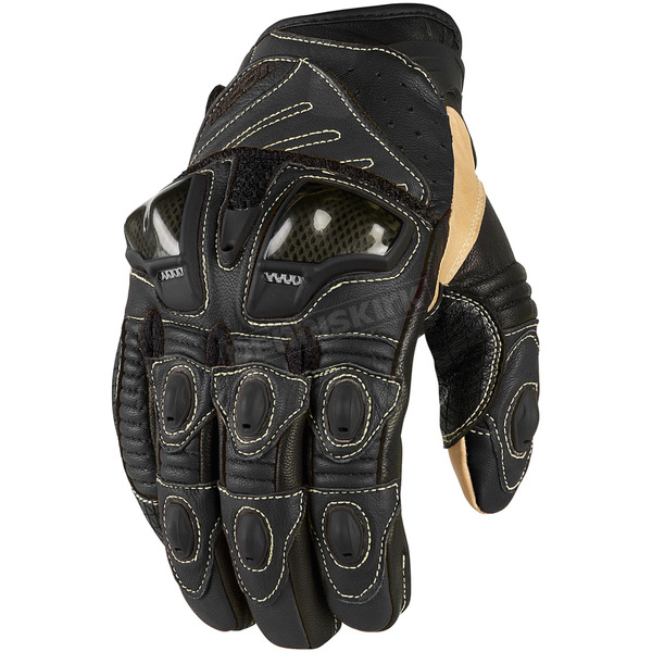 Icon Black Overlord Short Gloves - 3301-1463