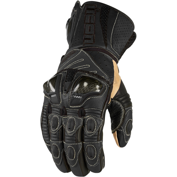 Icon Black Overlord Long Gloves - 3301-1485